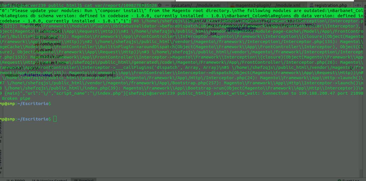 Solucionar el problema de módulos desactualizados en Magento 2